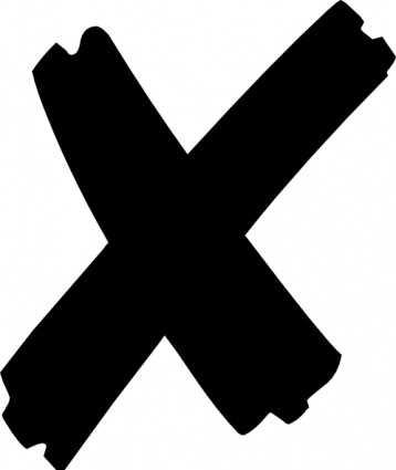 x mark x clip art f - Çarpı