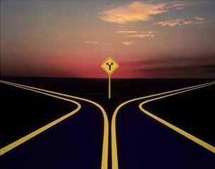 falda iki yol görmek - Falda İkiye Ayrılan Yol