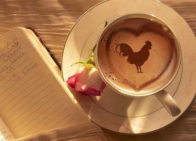 kahve falinda horoz ve kalp gormek - Horoz ve Kalp